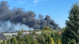 Pożar ciężarówek w Bytomiu