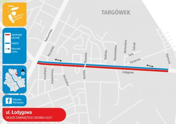 Ulica Łodygowa, zmiany 14-22 sierpnia  UM