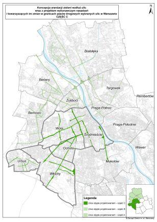 Mapa zielonych ulic UM Warszawa