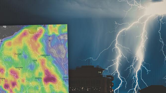 Najbliższe dni to nie tylko upał. <br />Przed nami burze z gradem i ulewy