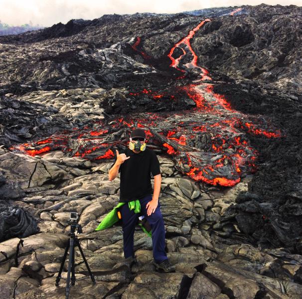 Wyciek lawy na wulkanie Kilauea (Eric Storm)