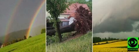 Załamanie pogody na Waszych zdjęciach. Podtopienia i połamane drzewa