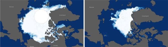 Gigantyczne ubytki lodu: 150 tys. km kw. dziennie
