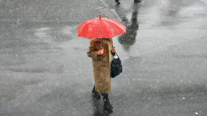 Pogoda na dziś: śnieg, deszcz ze śniegiem i deszcz