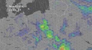 Opady w ciągu najbliższych siedmiu dni (Ventusky.com)